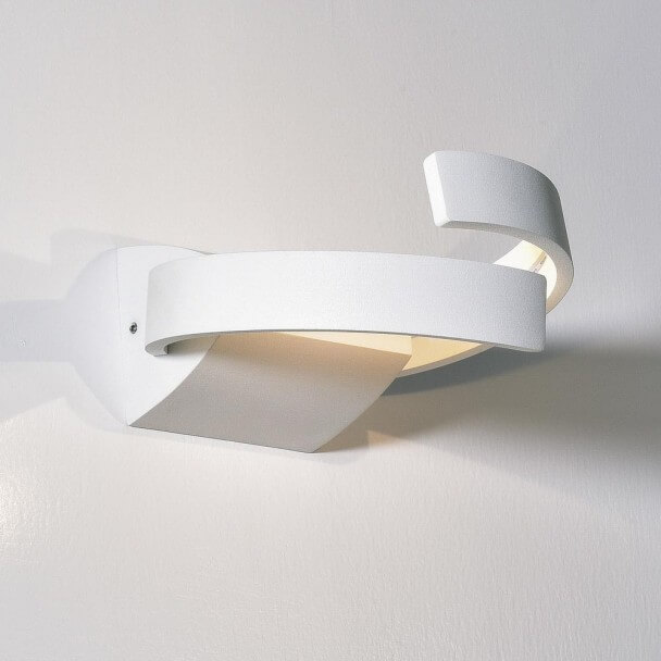 Applique LED design aluminium 2 bras rond - Arca