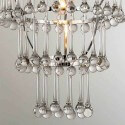 Suspension en verre design