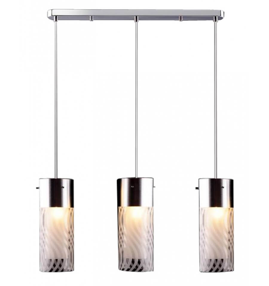Suspension design 3 verres emma kosilum for Suspension trois lampes