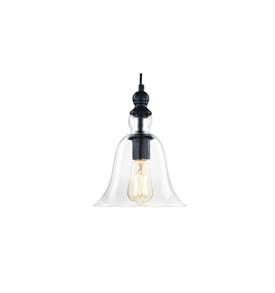 Suspension design cloche vera kosilum for Suspension luminaire en verre transparent