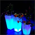 Vase lumineux LED multicolore H50 cm
