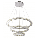 Suspension prestige cristal LED Oslo - 3 anneaux