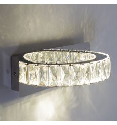 Applique LED cristal demi cercle design - Kuna