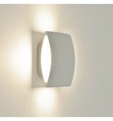 Applique LED carrée aluminium blanche design - Bowa