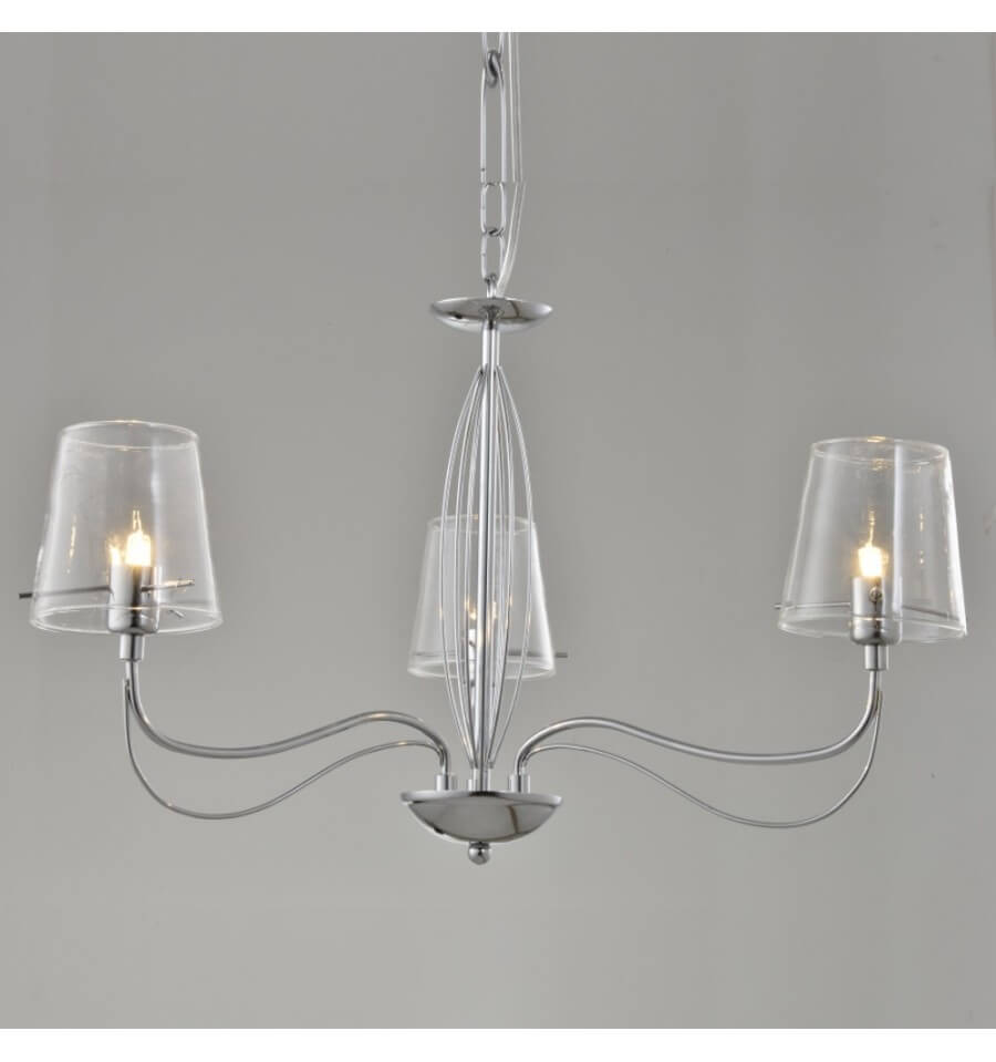 Lustre baroque et design en verre transparent matane for Lustres et suspensions design