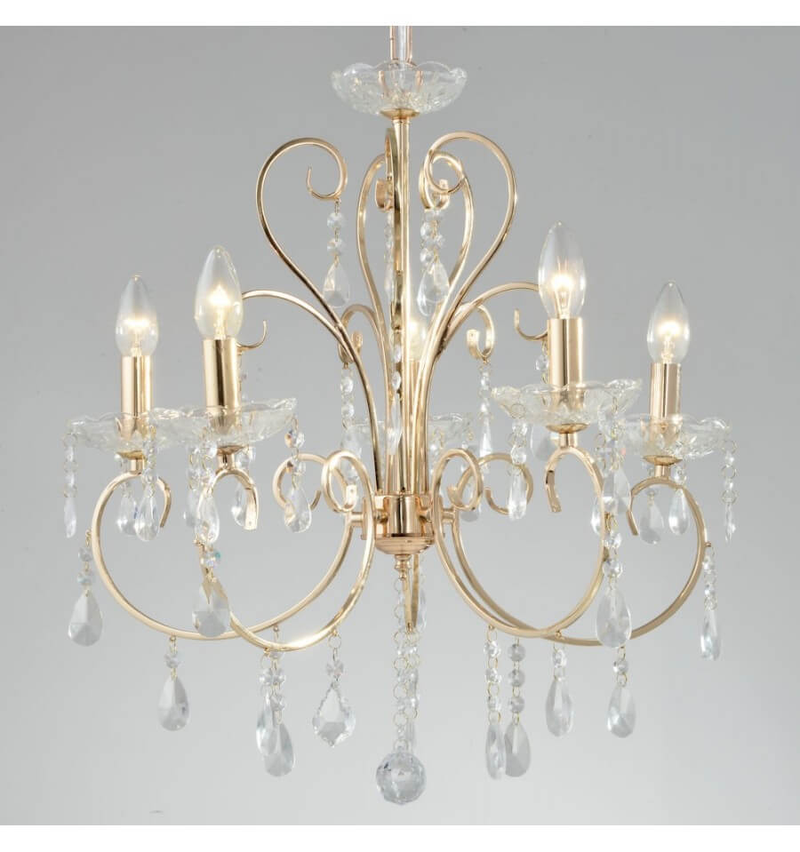 lustre cristal dor collection pavia achat de lustre baroque