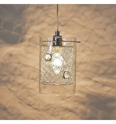 Suspension design verre cylindre - Camelia