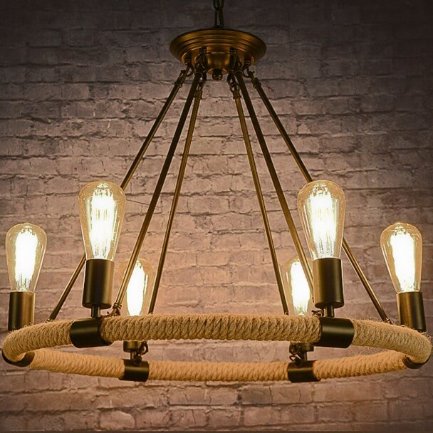 lustre suspension chandelier corde design vintage r tro babylone. Black Bedroom Furniture Sets. Home Design Ideas