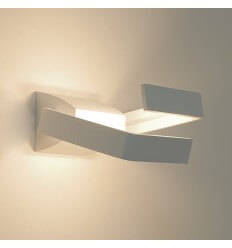 Applique LED design aluminium 2 bras rectangle - Arca