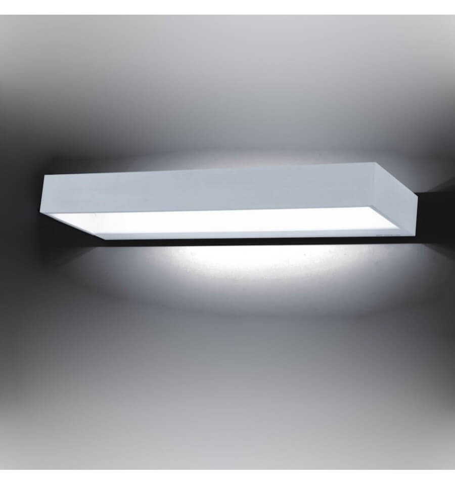 Applique murale led rectangle 12w 40 cm recto for Applique murale electrique exterieure led en aluminium hydro