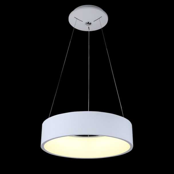 lampe led cercle moderne blanche san diego On suspension blanche design