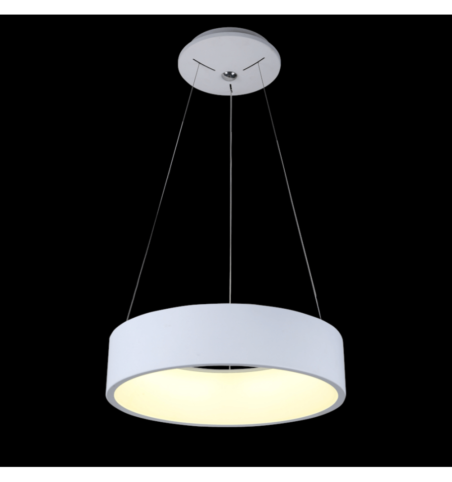 Lampe led cercle moderne blanche san diego for Suspension en solde