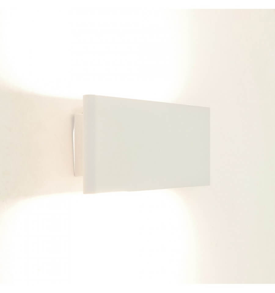 Applique rectangle aluminium bross couleur cuivre en led cruise - Applique murale blanche ...