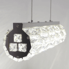 Suspension LED cristal barre cynlindrique design - Kuna