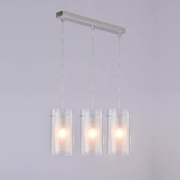 Suspension triple verre cylindre design - Glasgow