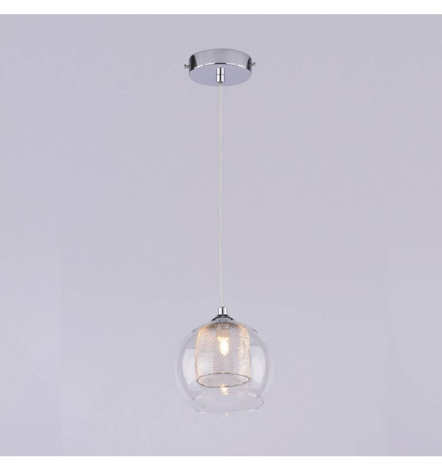 Suspension petite boule design lilas for Suspension boule verre