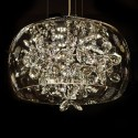 Suspension LED en verre et motifs cristal - Juno