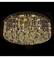 Grand plafonnier design cristal LED 72W - Irene