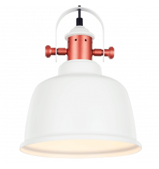 Suspension industrielle design blanc - Dalia