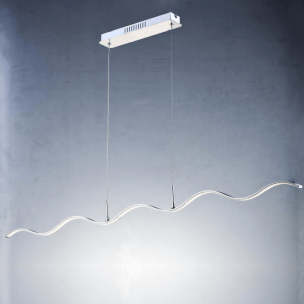 Suspension LED barre ondulée 120 cm - Onda