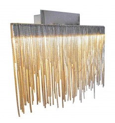 Lèche mur LED décoratif couleur nickel satiné - Phoenix