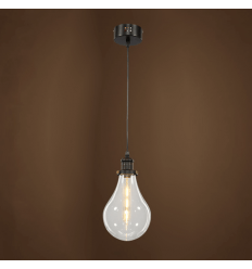Suspension chantier contemporain - transparent Spark