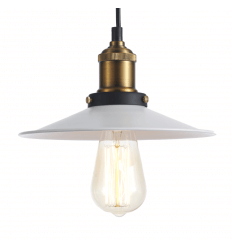 Lampe suspension industrielle blanche et bronze - Scopa