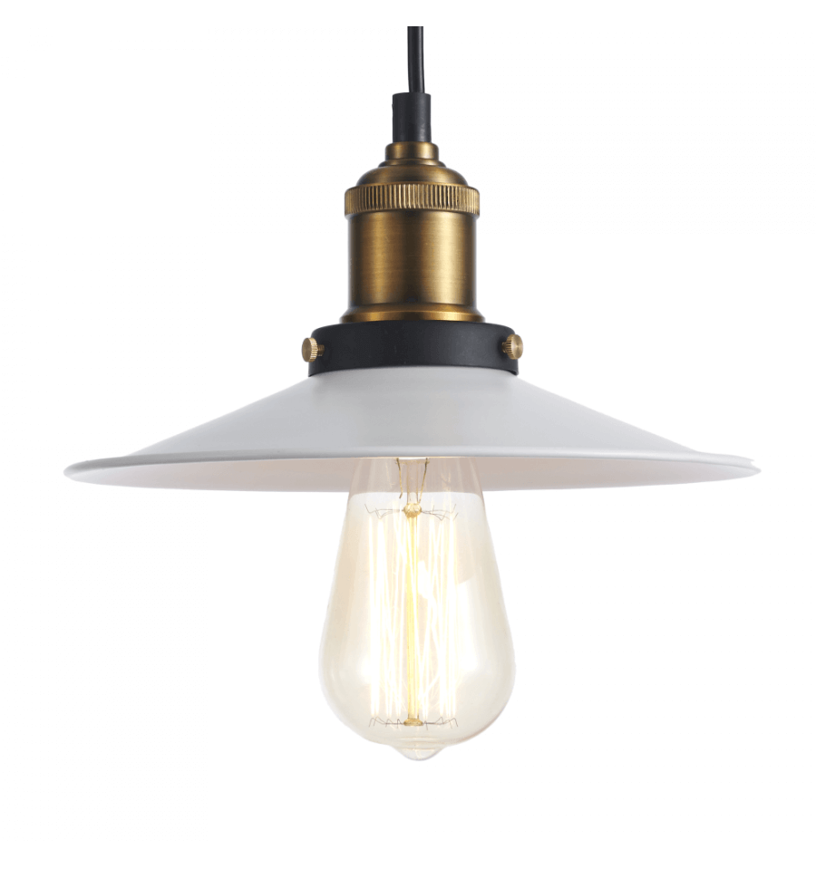 Suspension industrielle blanche et bronze scopa - Lampe suspension industrielle ...