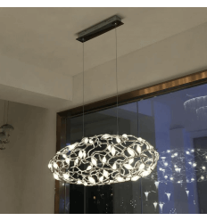 Luminaire Suspension LED Motif Floral - Queen