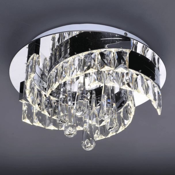Lustre pampille cristal LED - Million