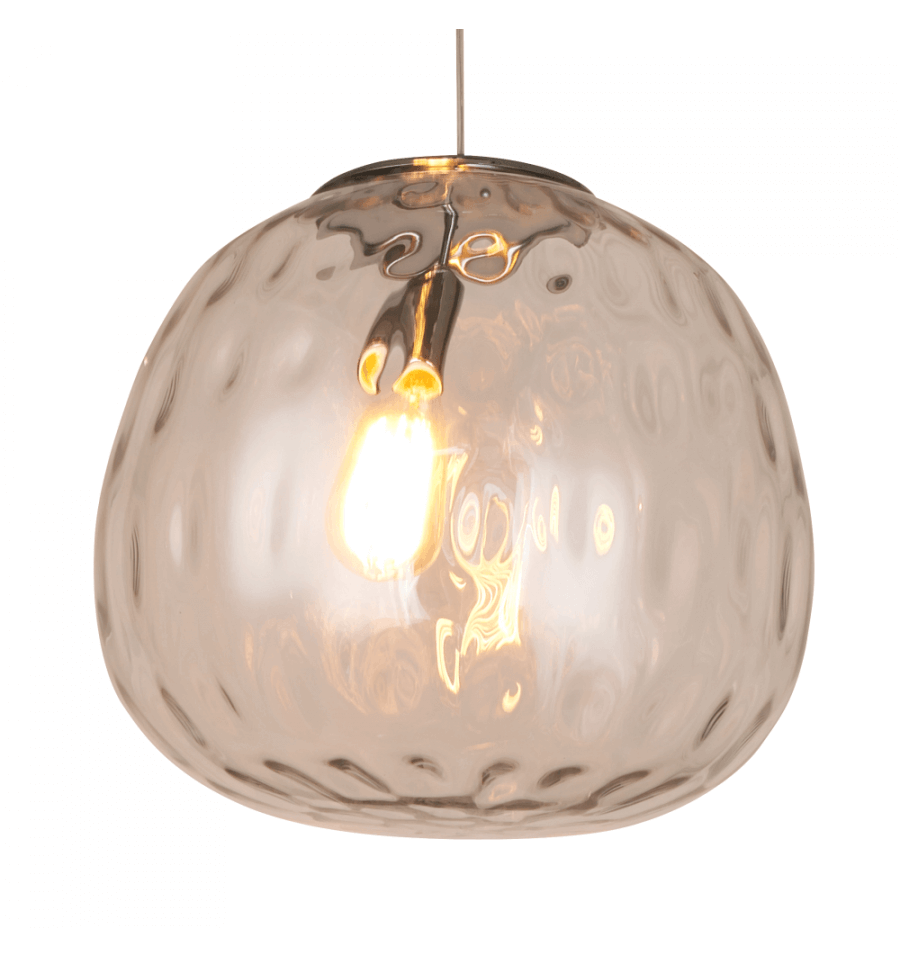Luminaire suspendu boule transparente suspension verre for Luminaire suspension boule