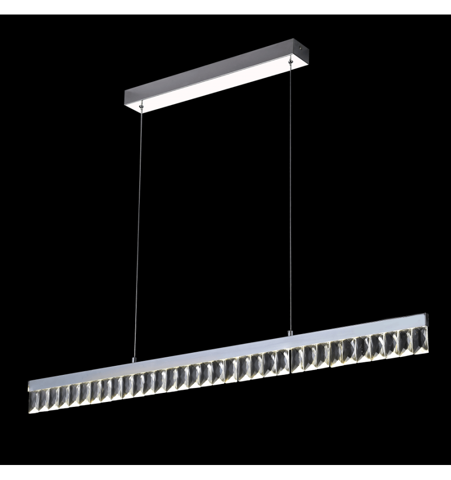 Lustre et suspension cristal led achat luminaire million for Salle a manger cristal