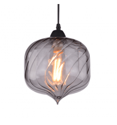 Suspension industrielle luminaire style r tro vintage for Suspension luminaire en verre transparent